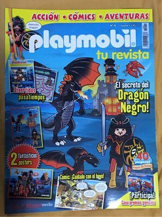 PLAYMOBIL REVISTA 4 GUERRERO DRAGON NUEVA