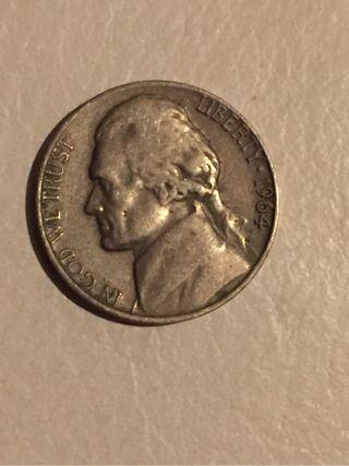 Moneda 5 centavos USA