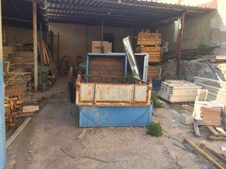 Canasta carga obra cesta jaula grua construcción