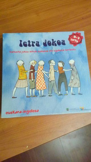 Juego de letras en euskera e inglés. 3-7 años