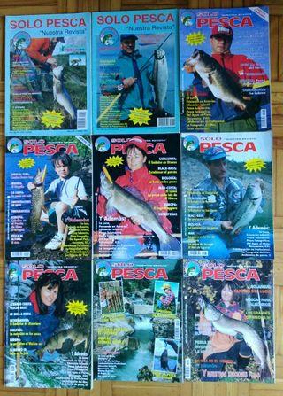 Lote 9 revistas Solo Pesca