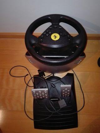 Volante y pedales 360 modena para la playstation 2