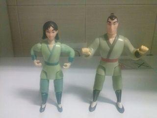 Figuras Mulan y Capitan Li Shang