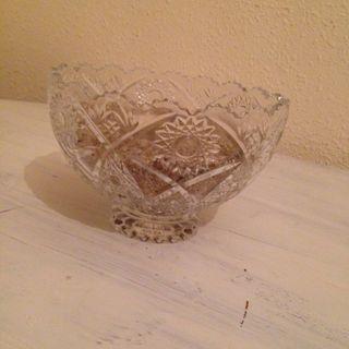 Centro de mesa cristal/ frutera/ bol vidrio