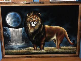 Cuadro artesanal de leon