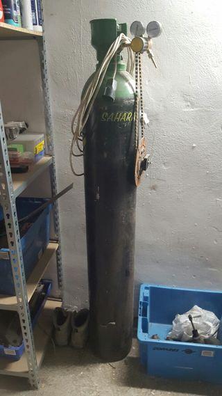 Botella gas soldadura
