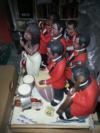 Banda musica jazz de ceramica