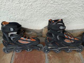 Patines de línea+Protecciones+Funda para patines