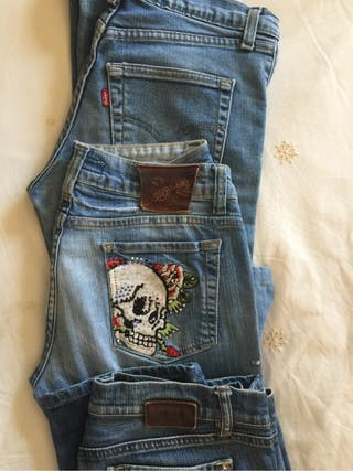 jeans levis, ed Hardy, gas