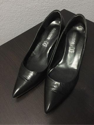 Zapatos tacón negro T37