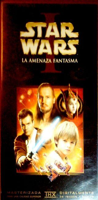 VHS STAR WARS LA AMENAZA FANTASMA