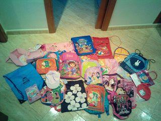 Conjunto mochilas y saquitos