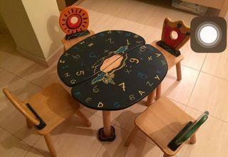 Juego de mesa y sillas infanti