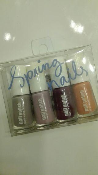 4 mini pintura de uñas H&M