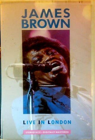 VHS JAMES BROWN LIVE ON LONDON 1985