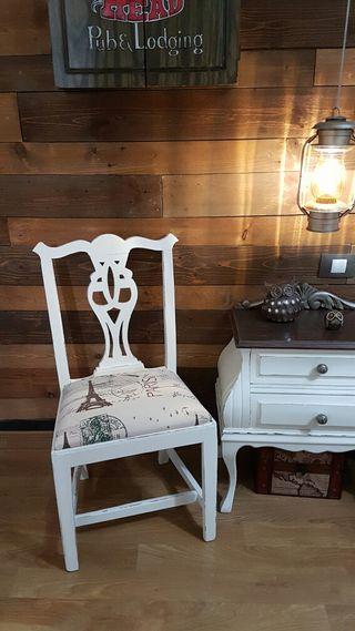 antigua silla estilo ingles