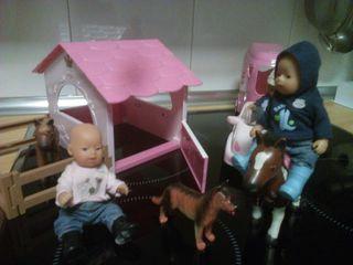 Conjunto baby born equitacion