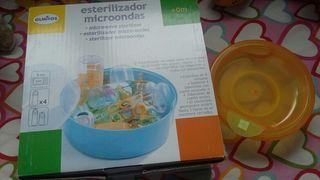 Esterilizador infantil microondas y plato termo