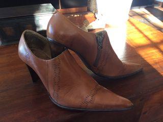 Zapato Botin De Piel