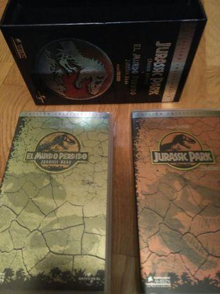 Dos vídeos VHS Jurassic Park 3€