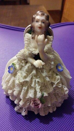 Bailarina porcelana de Sajonia