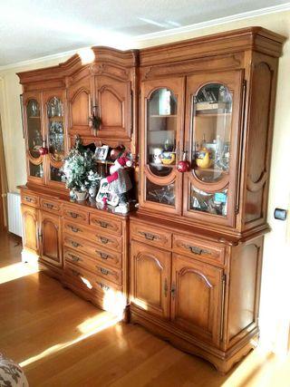 Mueble salon muebles lote completo mesa vitrina de segunda mano por en alicante en wallapop - Muebles salon alicante ...