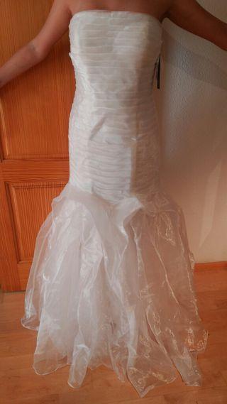 vestido de novia a estrenar con etiqueta