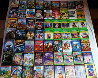 63 DVD infantiles+ regalo