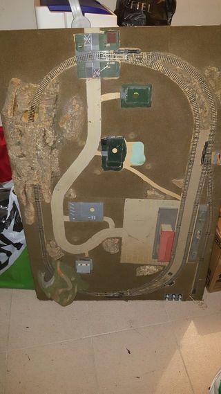 maqueta tren antigua para restaurar