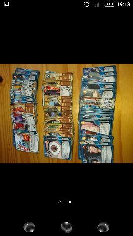 Cartas oficiales Naruto,mas pegatina y postales.