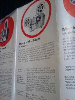 Proyector EUMIG MARK M Super 8 y súper single.