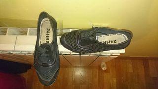 Zapato mujer 24horas 35/36 azul marino.