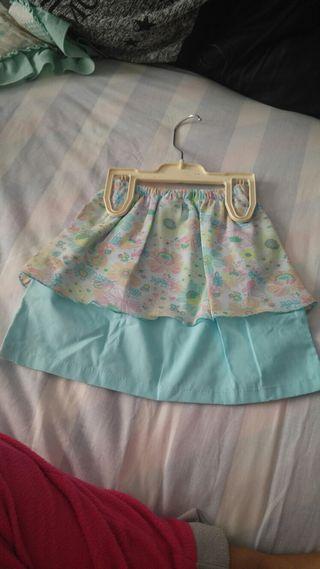 falda de niña 24 meses