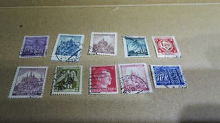 lote sellos protectorado bohemia y moravia 2gm