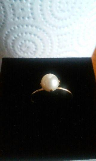 anillo perla