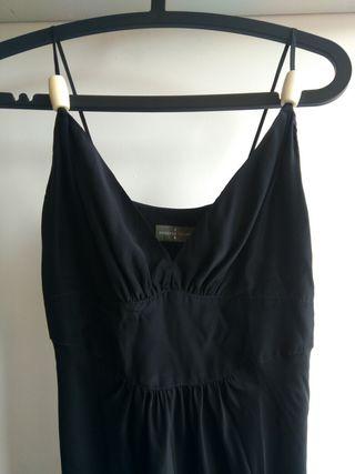 vestido seda negro