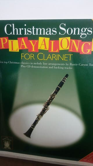 CLARINETE ( CHRISTMAS SONGS ) CON CD.