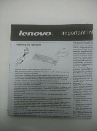 Teclado Lenovo -NUEVO-