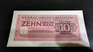 billete aleman 10 marcos segunda guerra mundial