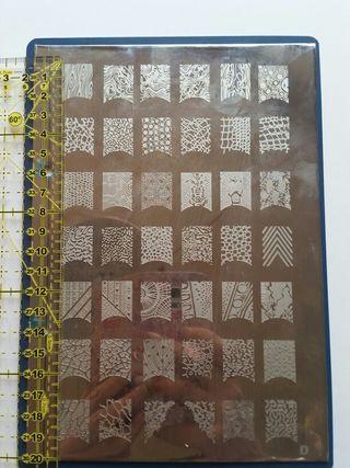 Placa decoración de uñas xxl