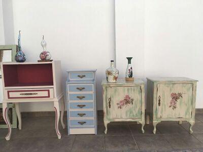 Muebles vintage restaurados a mano de segunda mano por 60 for Muebles vintage segunda mano
