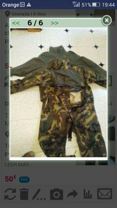 traje intemperie militar