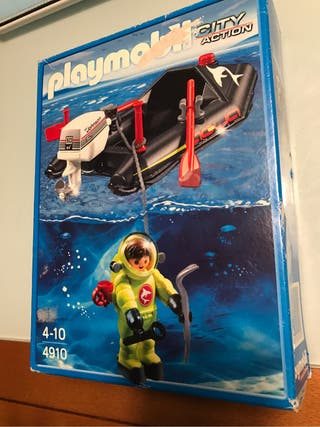 Submarinista playmobil lancha