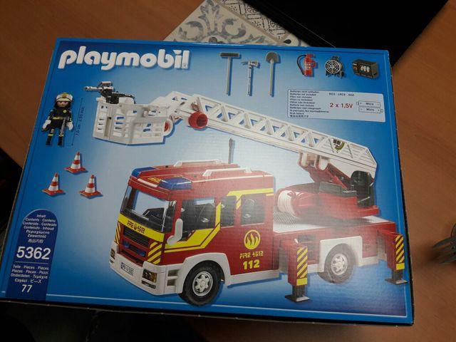 camión de bomberos de Playmobil