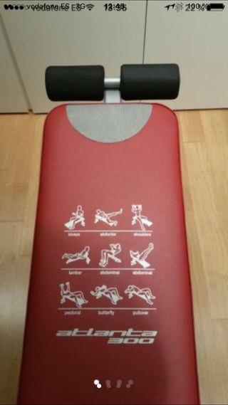 Lote pesas y banco d ejercicio