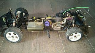 coche rc gasolina 1/8 impecable
