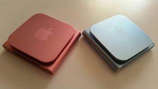 iPod nano rosa/azul