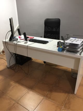 Mesa despacho blanca de segunda mano en wallapop - Mesas despacho segunda mano ...