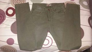Pantalón hombre como nuevo verde 38