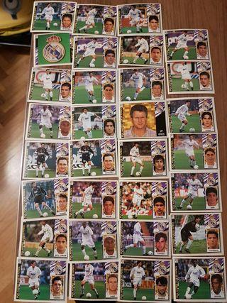 lote cromos real Madrid liga 97 98